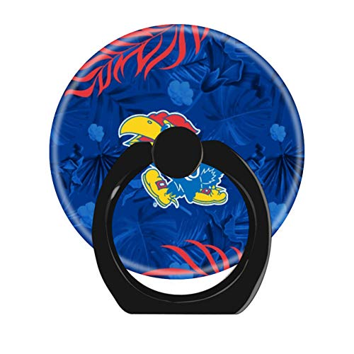 - Smart Phone Stand Ring Holder Universal 360 Degree Rotating Finger Grip Kickstand for All Cell Phones Tablets-Kansas Jayhawks Logo Hawaiian Pattern