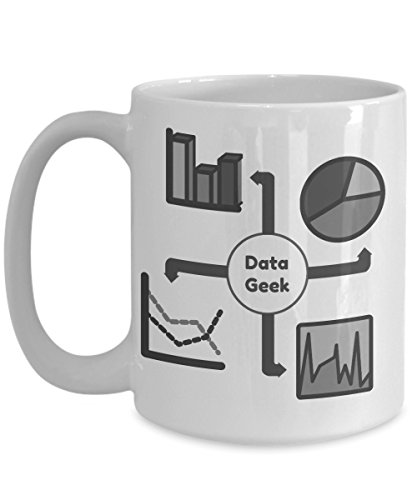 Data Coffee Mug-Data Geek-Funny Tea Cup-Perfect Novelty Gift Ideas for Data Enthusiasts like Analyst, Scientist, Statisticians & Others. (15oz)
