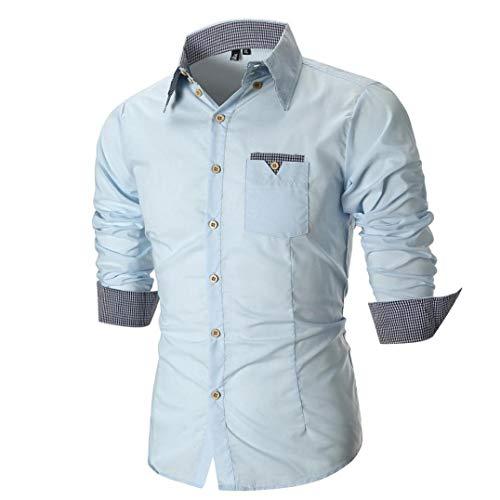 kaifongfu Shirt,Men Long Sleeve Slim Top Shirt Autumn