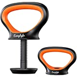 Eazylyfe Adjustable Kettlebell Handle,Dumbbell Handles,2-in-1 Push Up Bar and Kettlebell-with Strength Training and Core…