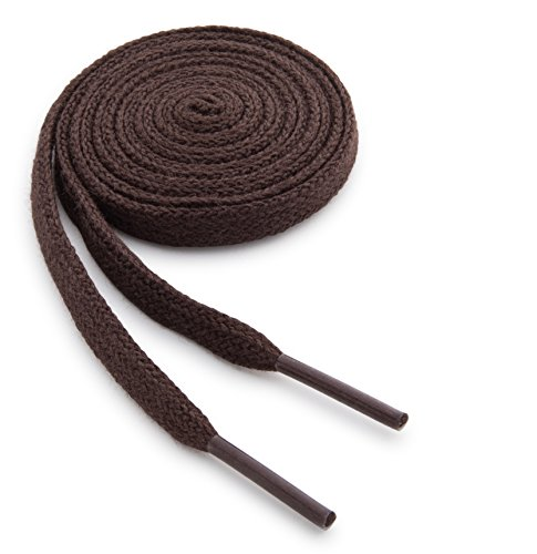 - OrthoStep Cotton Flat Dress Thin Brown 48 inch Shoelaces 2 Pair Pack