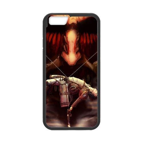 Attack On Titan coque iPhone 6 4.7 Inch Housse téléphone Noir de couverture de cas coque EBDOBCKCO14068