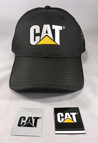 Cat Black Poly Cap w/Ventilated Sides