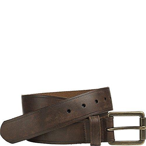 Johnston And Murphy Mens Belt Buckle - Johnston & Murphy Burnished Roller Buckle Belt (Brown - Size 38)