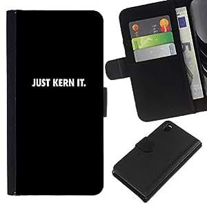 All Phone Most Case / Oferta Especial Cáscara Funda de cuero Monedero Cubierta de proteccion Caso / Wallet Case for Sony Xperia Z3 D6603 // JUST KERN IT