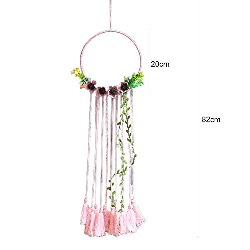 SeedWorld Wind Chimes & Hanging Decorations - Feather Crafts Dream Catcher Brown Wind Chimes Handmade Indian Dreamcatcher Net for Wall Hanging Car Home Decoration 1 PCs ()