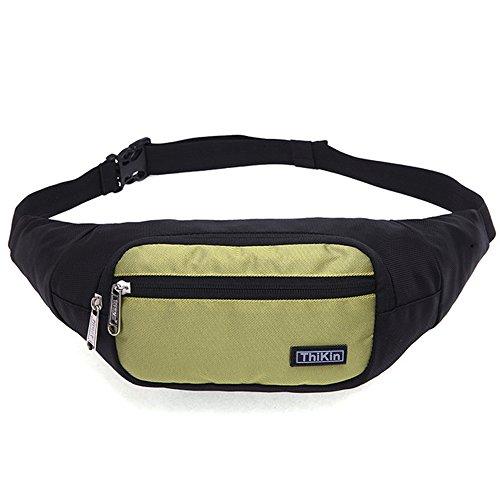 Waist Bag Polyester Closure Belt Black for Men Women - 4