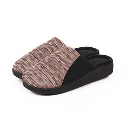 gruesa mujeres insípido suave de En cómodo gray otoño algodón invierno suela antideslizante casa cálido zapatillas e felpa Hw6qYwP