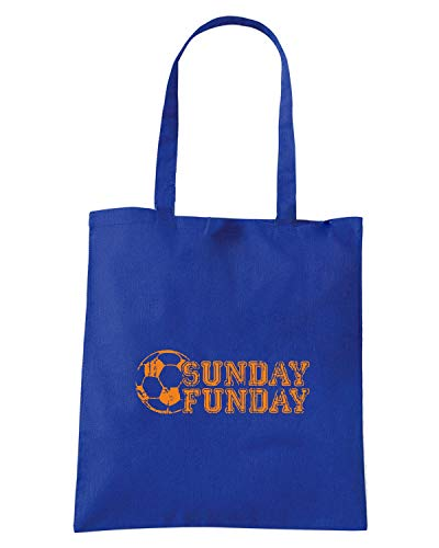 SUNDAY FUNDAY Shopper Borsa WC0580 Blu Royal vXvHqI