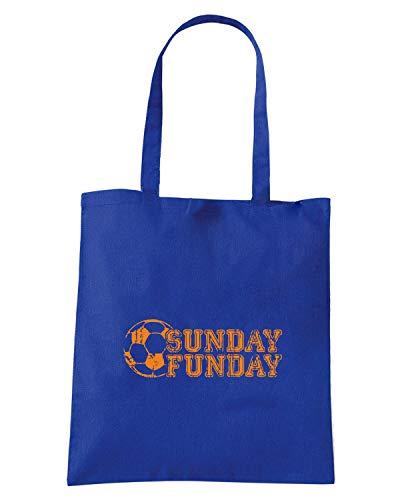 Borsa Shopper Royal Blu WC0580 SUNDAY FUNDAY