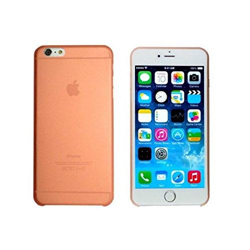 smartec24® iPhone 6 TPU SmartCover Case in orange mit Softgrip Oberfläche inkl. 1x Displayschutzfolie. 100% passgenauer kantenumgreifender Schutz