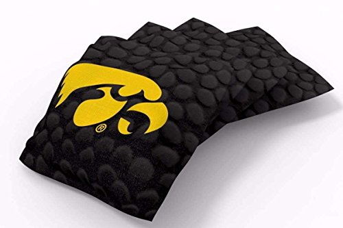 PROLINE 6x6 NCAA College Iowa Hawkeyes Cornhole Bean Bags - Pigskin Design (A) - Iowa Hawkeyes Ncaa Bean Bag