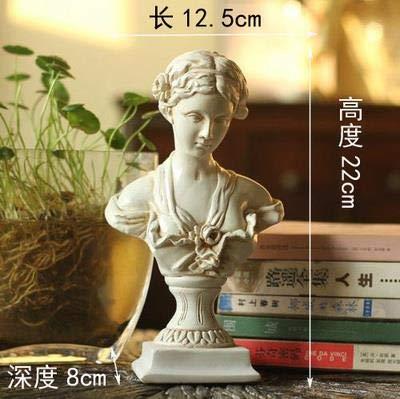 (DAVITU Medieval Vintage Resin Figurine,Knights,Warrior,Soldier,Treasure Box,Goddess of Justice,Venus Goddess,Figure Sculpture, Statue - (Color: B))