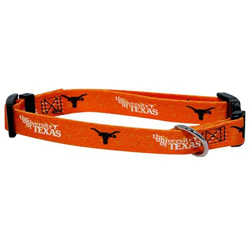 University of Texas Medium Adjustable 14 - 20 in. Dog Collar, 3/4 in. width