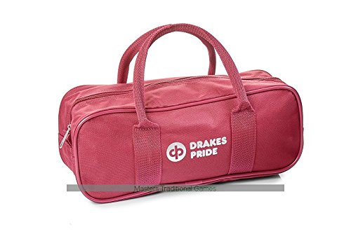 Drakes Pride 2 Bowl and Jack Bag - Maroon by Drakes Pride