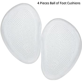 Healthcom 2 Pairs Gel Front Insole Forefoot Insoles High Heels Toe Pad Silicone Gel Pads Metatarsal Pads