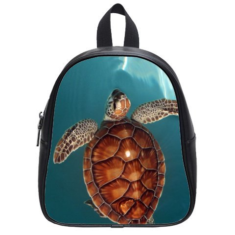 This school bag is much more suitable for kindergarten children/ Treasure Design Kid's School Bag (Small)/PU Leather/Backpack With Sea Turtle Theme
