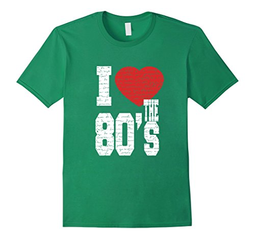80s Attire Male (Mens I Love The 80's T shirt 80s Halloween Costume 2XL Kelly Green)