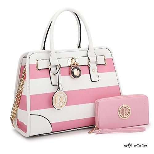 MKP Collection Fashion Woman Handbag and Wallet set~Beautiful Tote~Designer  Satchel~Nice Purse (6892W) PK WT - Buy Online in KSA. maya karis purse  products ... d31af1b1b4