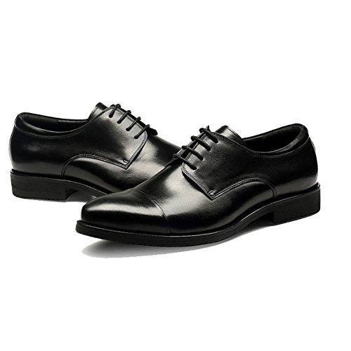 Elegante Banquete Cuero Hombres Negocios Casual Exterior Spring De Black Transpirable Boda Zapatos Xycszq P8xwq