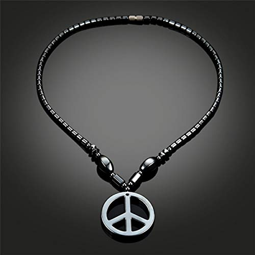 Necklace for Men for Men Leather Anti-War Peace Sign Symbol Pendants Necklaces for Women 2018 New Fashion Jewelry Charm Men Boys Long Necklace R5AX - Peace Sign Symbol Pendant