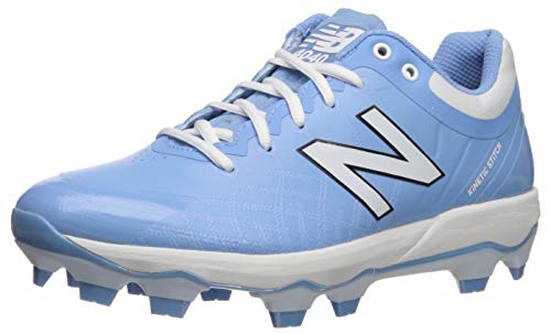 New Balance Men's 4040v5 Molded Baseball Shoe, Baby Blue/White, 9 2E US
