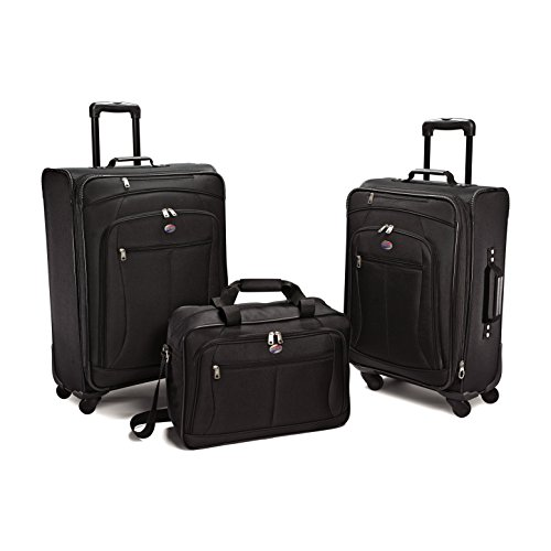 Price comparison product image American Tourister At Pops Plus 3Pc Nested Set (One Size,  Black - 3 Piece set)