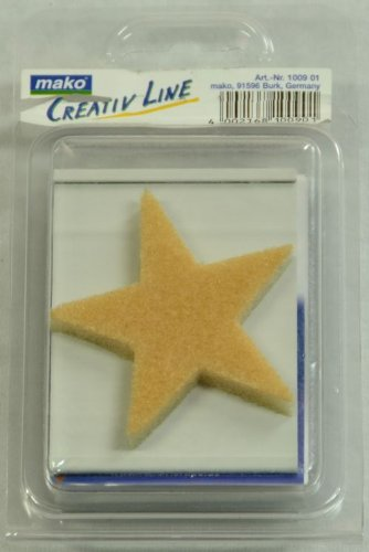 Mako Paint Stamp Moon And Star Flocked Foam Pack Of 2