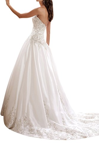 Toscana sposa elegante a forma di cuore sposa vestimento lunga taaettà con pizzo alto tempo abiti da sposa moda principessa bianco 40