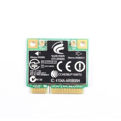 AR5B95 AR9285 Wireless 802.11BGN PCI-E Half Mini Card SPS: 605560-005 USE FOR HP CQ56 CQ62 G62 CQ42 CQ43 by PJCARD
