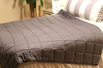 Premium Weighted Blanket for Adults & Kids 60x80 15lbs – Let Gravity Help You Achieve a Deeper Sleep – Relief from Anxiety, Insomnia, Sensory Disorder, ADHD, Austim, Fibromyalgia, Depression