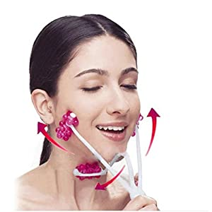 Brendacosmetic 2 In 1 Roller Neck Massager Face Massager Facial Beauty Tool,Face-Lift Up Facial Massager Face Slimming for Women Ladies Girls
