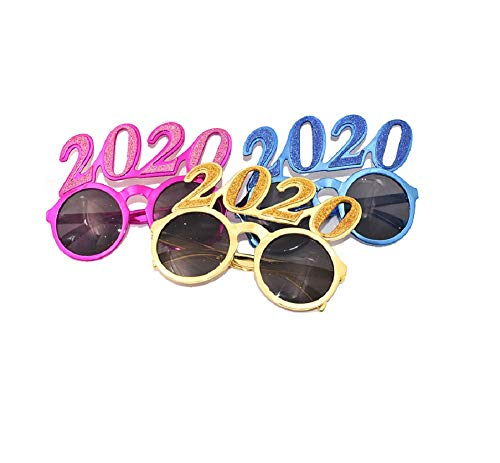 3pcs 2020 Funny Sunglasses Novelty Eyeglasses Party Glasses for Festival Party Favors ()