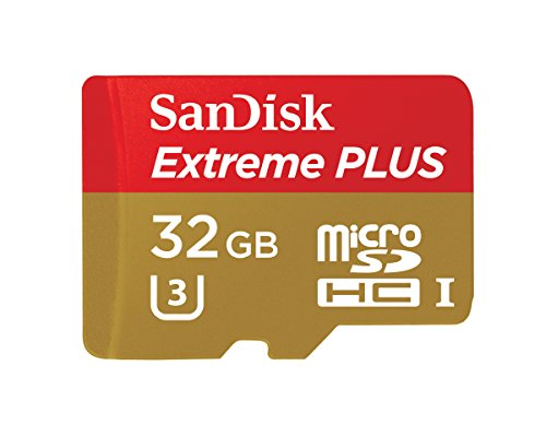 SanDisk Extreme PLUS 32GB microSDXC UHS-I/U3 Card with Adapter (SDSQXSG-032G-GN6MA) [Newest Version] (Difference Between Sim Card And Sd Card)