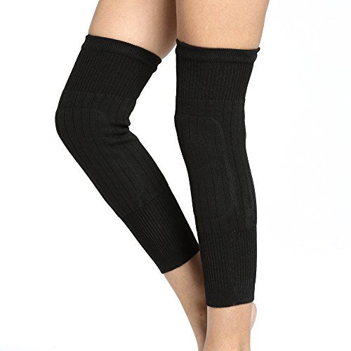 18 Inch Cashmere - Udoarts Cashmere Knee Warmers(1 Pair) (Black)