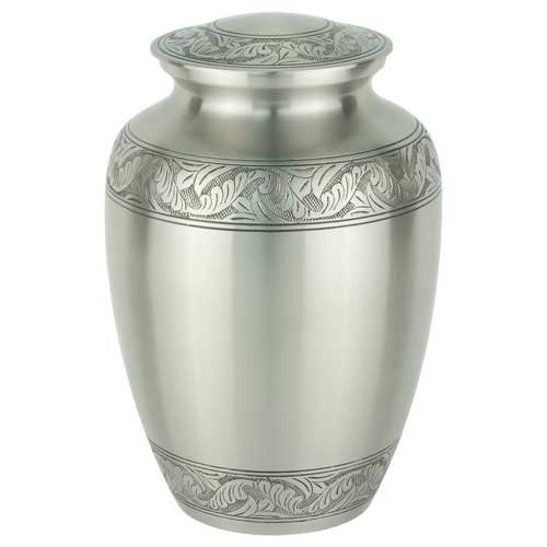 (Silverlight Urns Classic Laurel Pewter Brass Urn Extra Large, Large Capacity Funeral Urn)