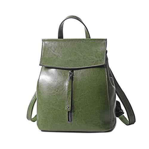 pour cuir en cuir Mode à en les Femme Voyage sacs Sac sac d'école luxe véritable vachette VHVCX dos femmes adolescente Vintage de Green tEwx6qEA