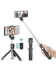 ELEGIANT Selfie Stick Stativ, Bluetooth Mini Erweiterbar Selfie-Stange Stab mit Stativ Tripod Dreibein Bluetooth-Fernauslöser 3 in 1 tragbar Monopod Mini Pocket Wireless Selfie Stick 360° Rotation