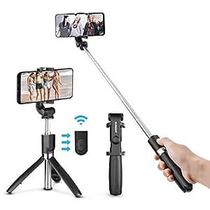 ELEGIANT Palo Selfie Trípode Bluetooth Mini Stick Movil Deportivo Extensible de Control Remoto para Autofoto 3 en 1 Monopod con Obturador Rotación de 360 Grados iPhone Huawei Xiaomi Android iOS