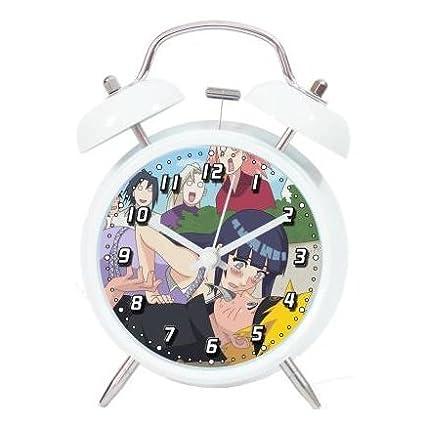 NARUTO Anime Student reloj en forma de delfín de dibujo de silencio campana de metal noche