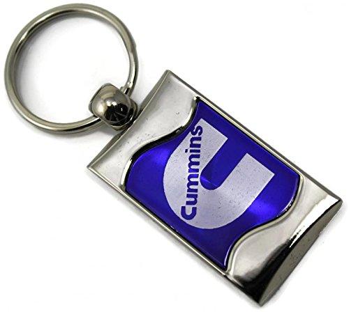 Dodge Cummins Logo Rectangular Wave Key Chain Blue