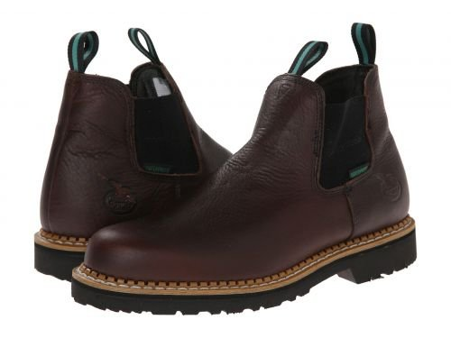 Georgia Boot(ジョージアブーツ) メンズ 男性用 シューズ 靴 ブーツ 安全靴 ワーカーブーツ Georgia Giant High Romeo Waterproof Soggy Brown [並行輸入品] B07DNPR9G5 9 D Medium