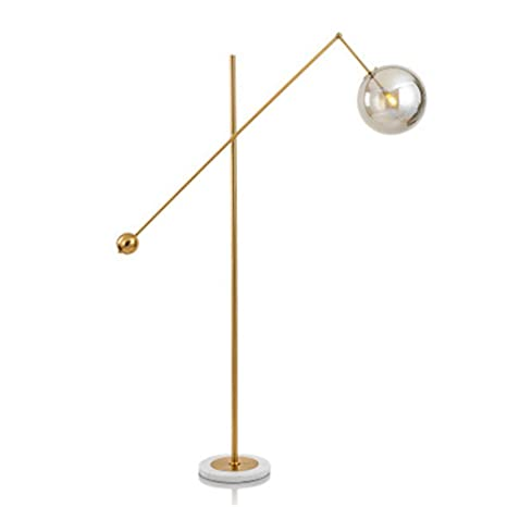 MIJOGO Lámpara de Piso Moderna de latón Antiguo Boom ...