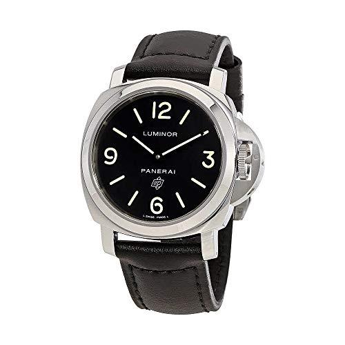 (Panerai Luminor Base Logo Acciaio Black Dial Mens Watch)
