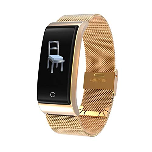 - JIANGJIE Smart Bracelet, Touch Screen Stainless Steel IP68 Waterproof Motion Tracker with Heart Rate Measurement, Sports Record, Smart Reminder,C