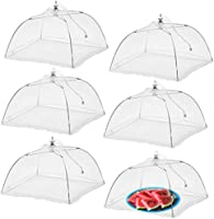 WISDOMWELL Pop-Up Mesh Food Covers Tent Umbrella Reusable and Collapsible Screen Net Protectors for Outdoors Parties...