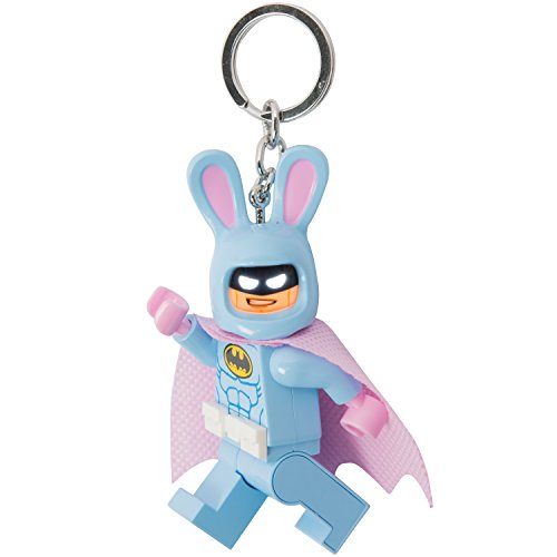 Batman Lego Head Costume (LEGO Batman Movie - Easter Bunny Batman - LED Key Chain Light with Illuminating Face)