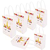 Unicorn Gift Bags Unicorn Birthday Party Supplies Favor Good for Filling with Goodies Candy Glitter