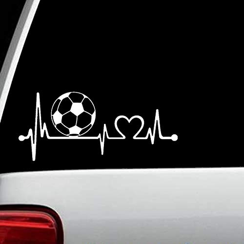 Bluegrass Decals K1110 Soccer Ball Heartbeat Lifeline Monitor Decal Sticker (Soccer Window Decal)
