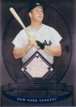 2008 Bowman Sterling Baseball #BS-BM Mickey Mantle Game Worn Jersey Card